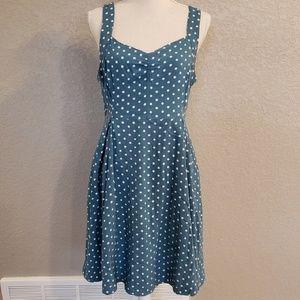 Modcloth polka dot dress with pockets